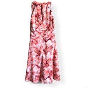 White House Black Market Dresses - EUC WHBM Floral Halter Dress